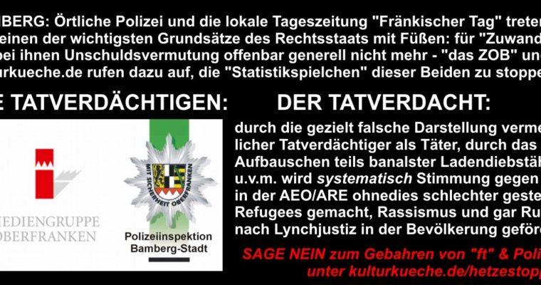 BAMBERG: Polizei & Tagespresse schaffen Unschuldvermutung für Zuwanderer de facto ab